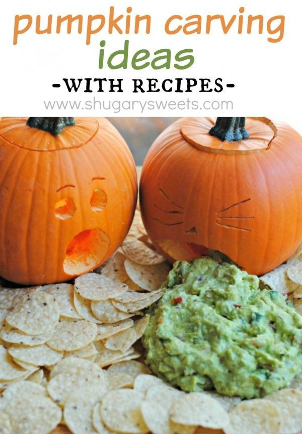 Pumpkin Carving ideas for an easy family party! Plus three recipes - easy halloween pumpkin ideas