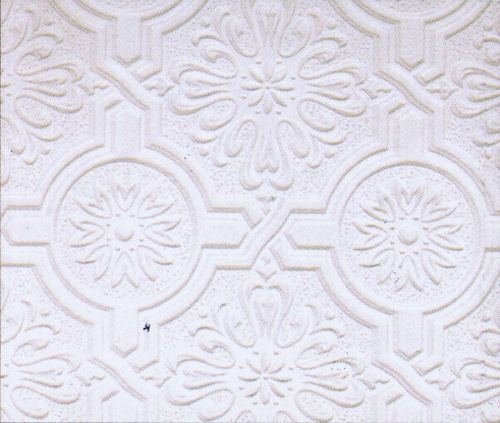 Circle Medallion And Embossed Design Tin Ceiling Paintable Wallpaper P32817 Brewster