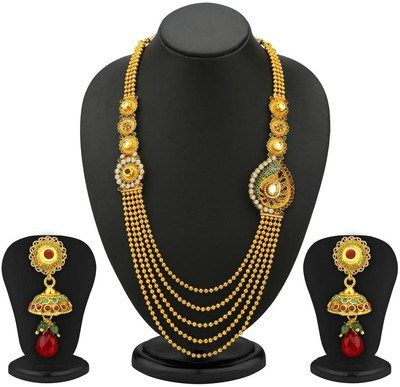 Amazon Shopping Online Offer Jewellery 75 Off On Trushi One Sided 5 Strings Copper Jewel Set Necklace Set Antique Necklace Necklace