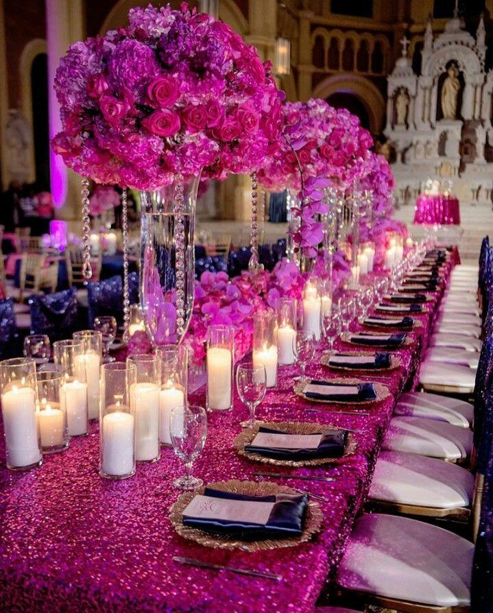 Hot Pink Fuchsia Wedding Wedding Party Decorations Fuschia Wedding