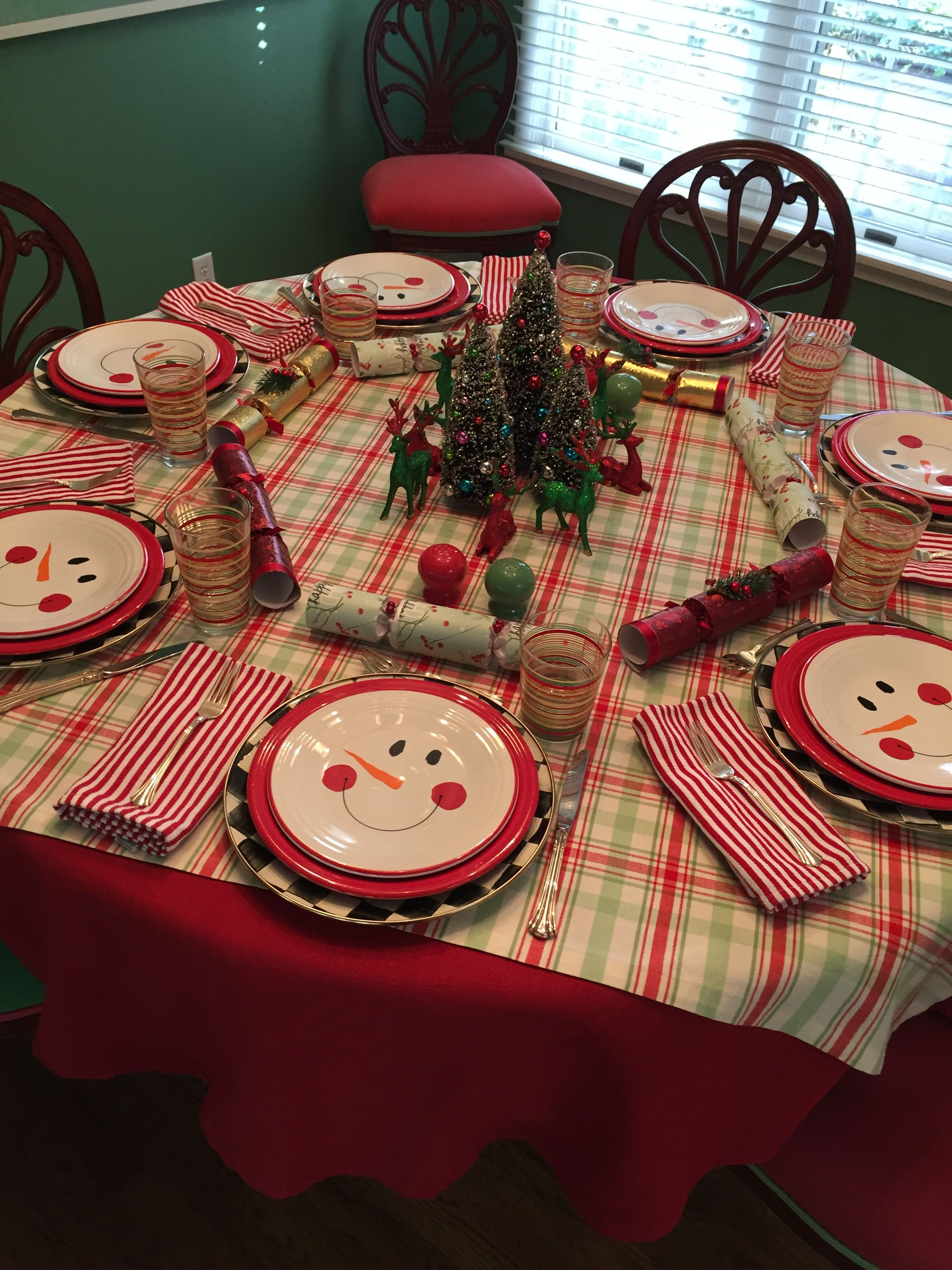 Table set for Christmas Eve Family dinner...2019