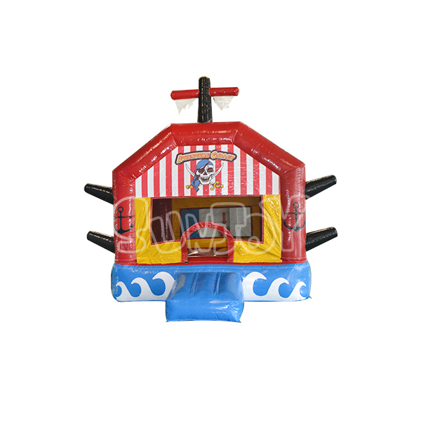 Adventure Galley Bounce House Pirate Ship Jumper From Sunjoy. Buy pirate theme inflatable jump house at sunjoy, custom made fun and safe bouncers for kids with affordable prices.