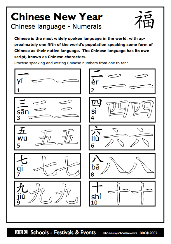 Chinese number traceable PDF Chinese lessons, Mandarin