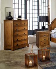 chifonier en madera natural de mahogany coleccin alamanda