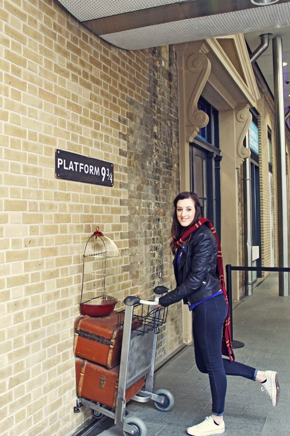 Platform 9-3/4....I'm totally getting a photo taken here when I live in London soon!