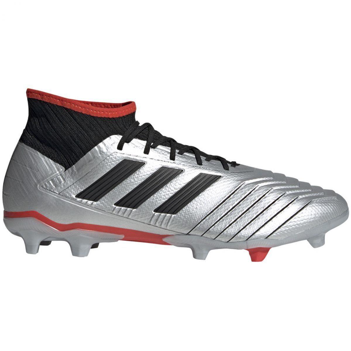 Buty Pilkarskie Adidas Predator 19 2 Fg M F35601 Czarny Srebrny Srebrny Adidas Predator Adidas Football Boots