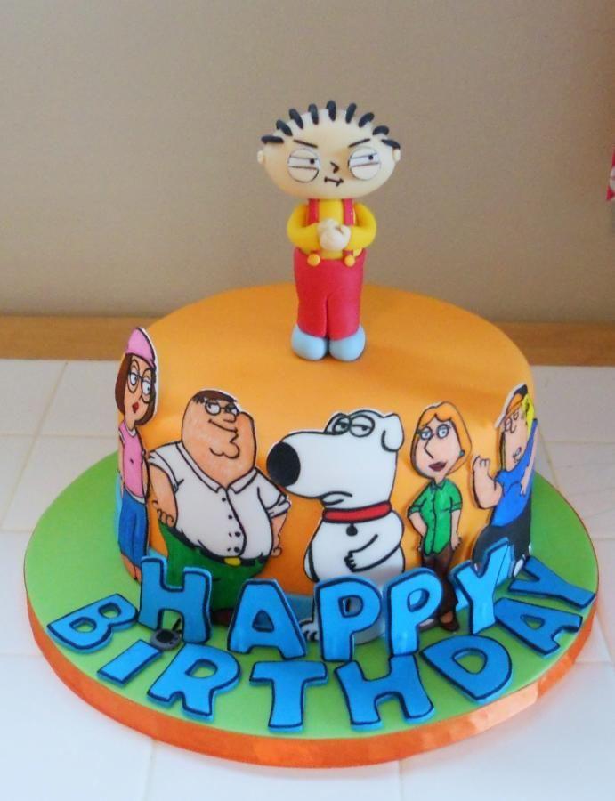 Pleasant Family Guy 21St Birthday Cakes Cartoon Cake Funny Cake Funny Birthday Cards Online Alyptdamsfinfo