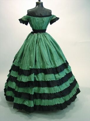 green  black gown circa 1865