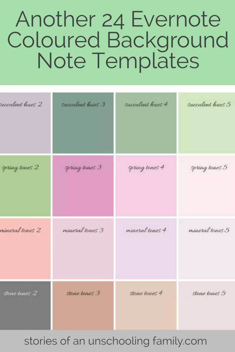 Another 24 Evernote Coloured Background Note Templates Pinterest