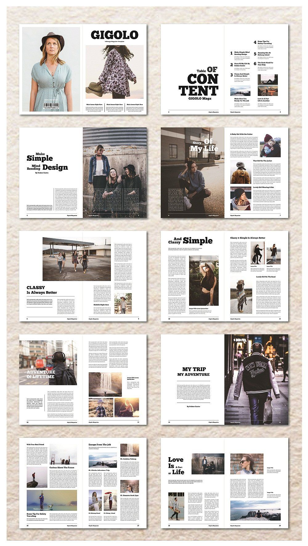 InDesign Magazine Template by MA-KING_ART on @creativemarket | Life ...