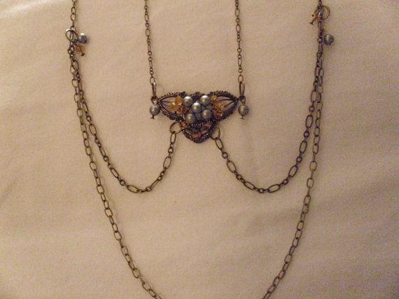 Handmade Necklace/Earring Set by MyCynthiasJewelry on Etsy, $20.00
