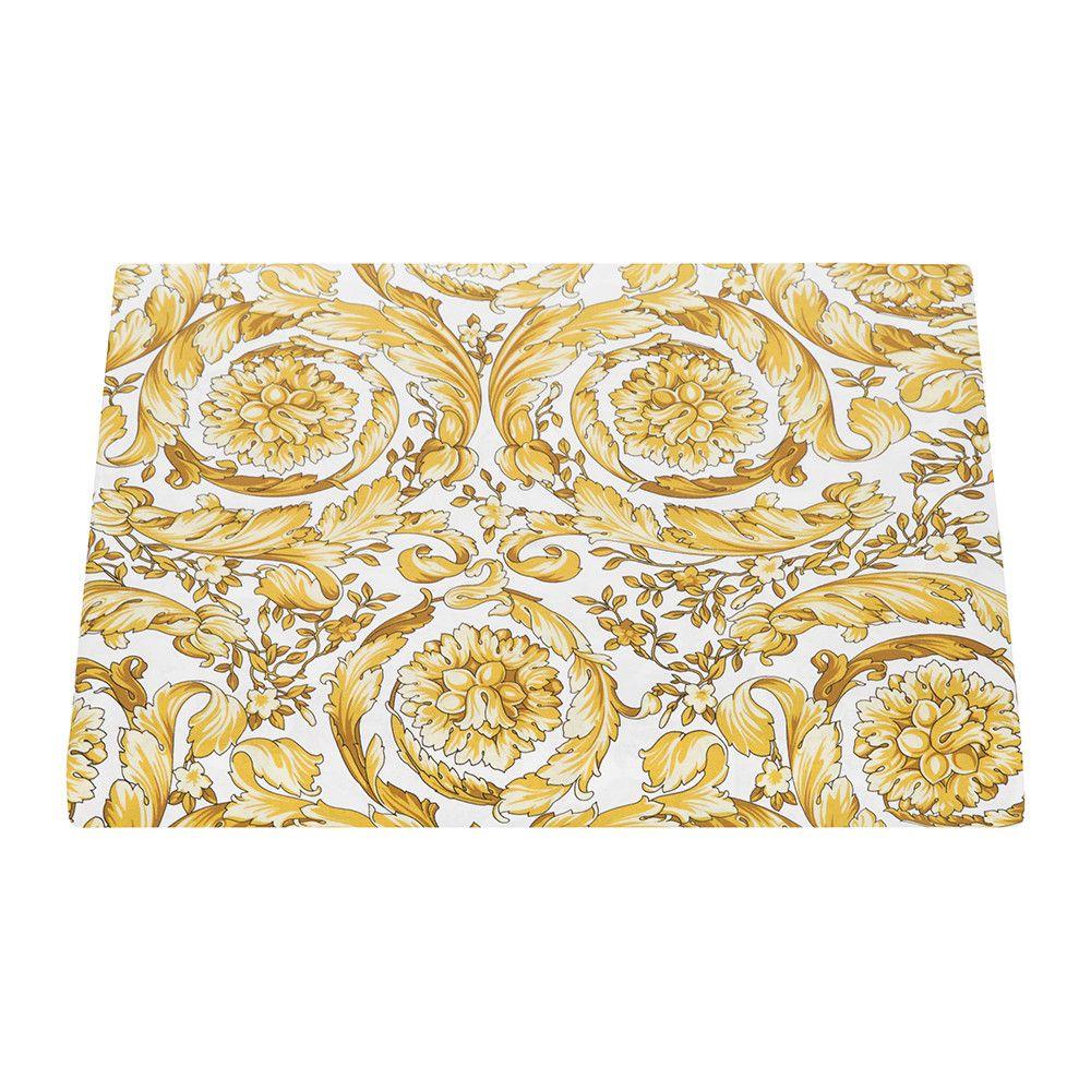Barocco duvet cover super king whitegold duvet white gold