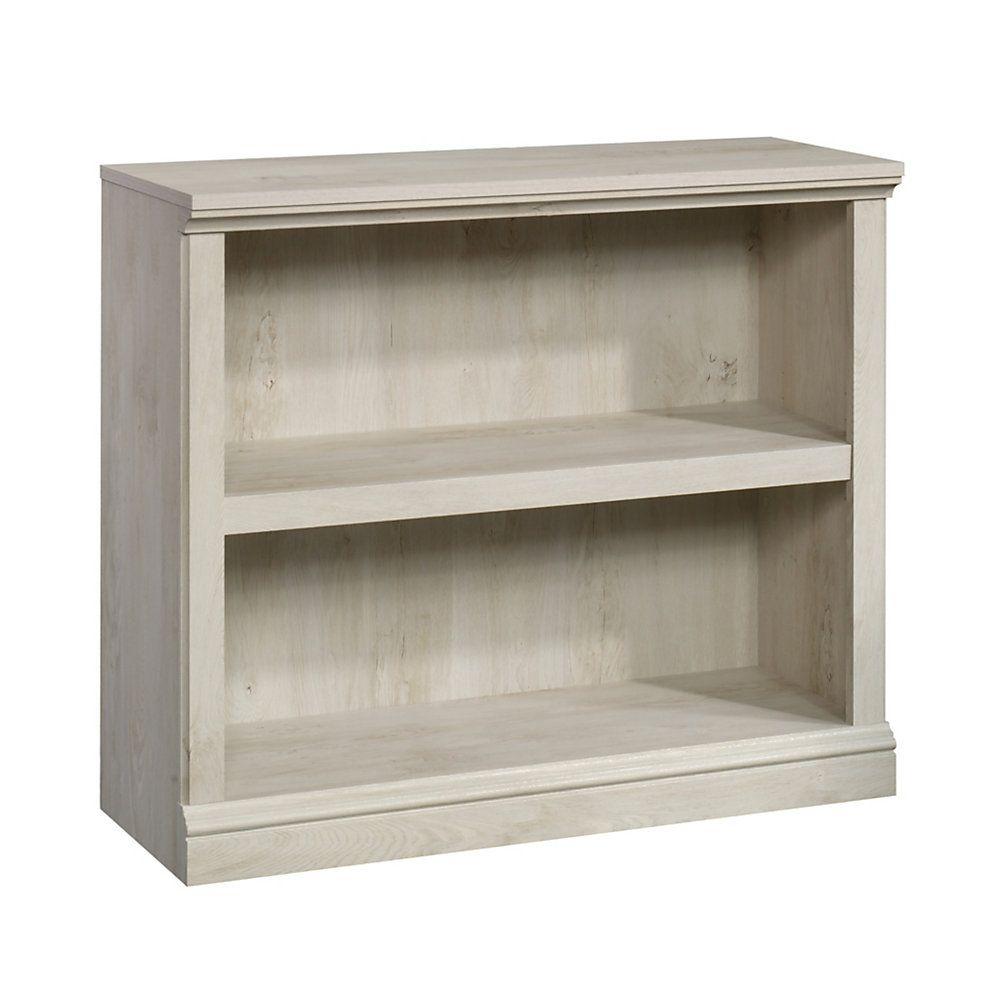 Sauder Select Bookcase 2 Shelf Chalked Chestnut Item 7134210 2 Shelf Bookcase Bookcase Bookcase Storage