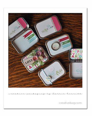 Lorrie Everitt Studio: holiday packaging details & my paper flower and decortated bottle cap tutorials