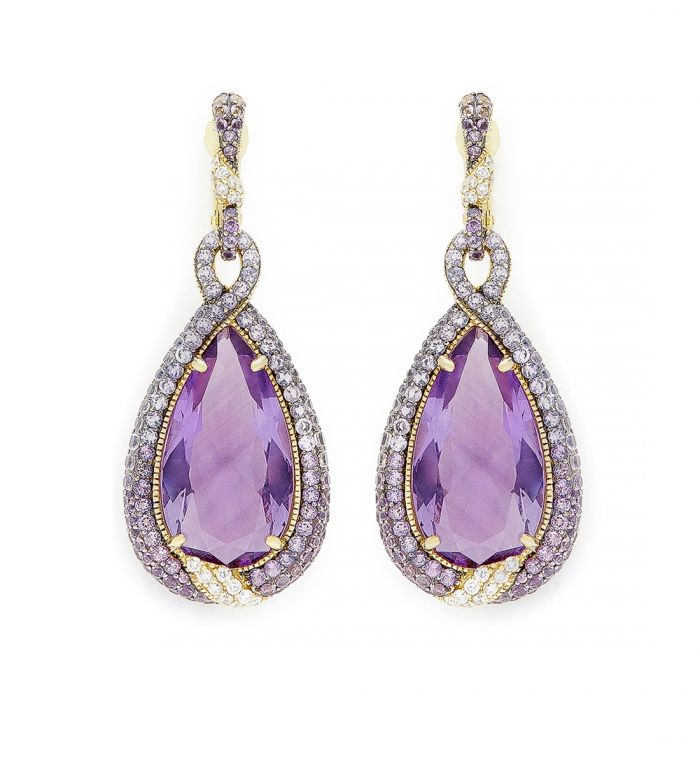 Judith Ripka Amethyst Earrings