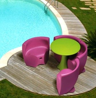 table et chaise de jardin pas cher en plastique | mobilier de jardin ...