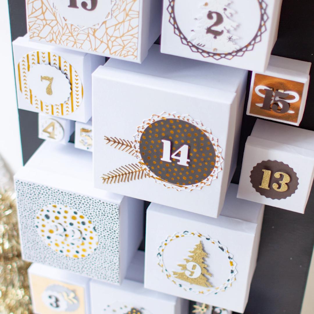 Schachtel-Adventskalender #calendrierdelaventdiy