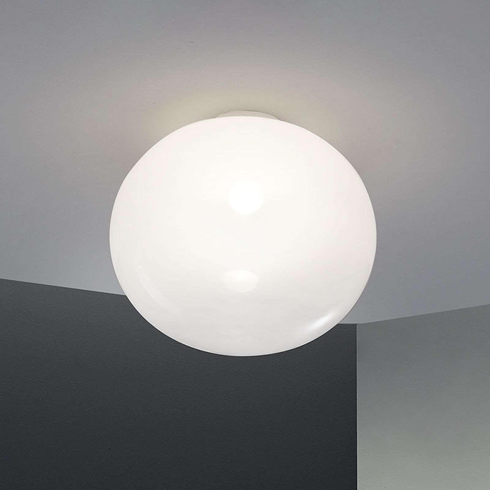 Plafonnier Aria en forme de sphère comprimée 33 cm de ...
