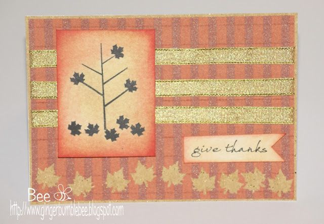 Autumn/Fall Waltzingmouse Give thanks card