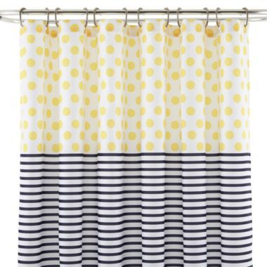 JCPenney HomeTM Dots Stripes Shower Curtain Found At