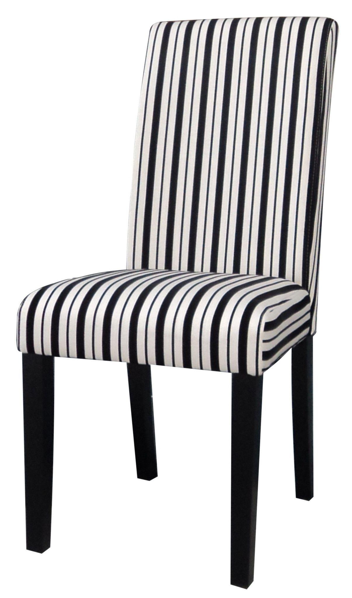 Black Amp White Modern Parson Side Chair Set Of 2 Side