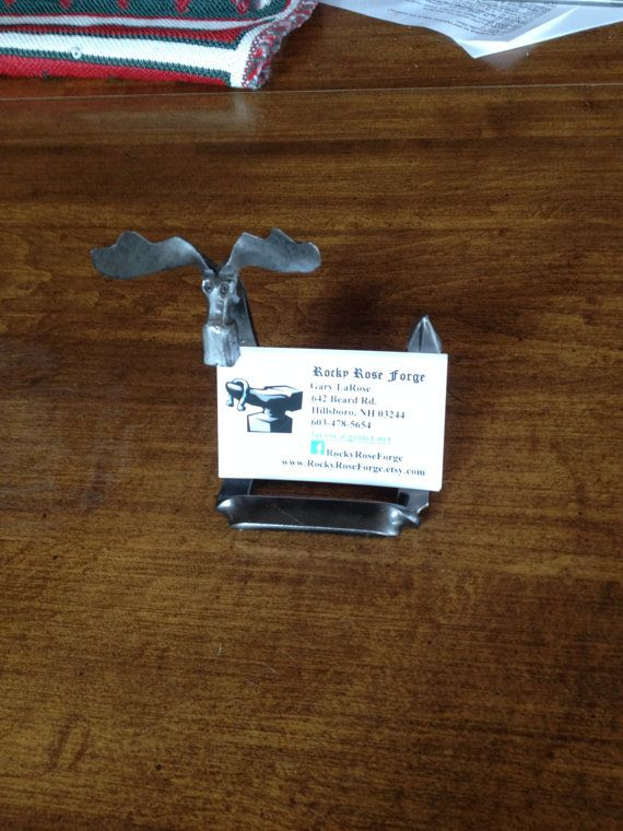 Moose business card holder business card holders moose and hand forged one piece steel moose business card holder for that distinctive touch colourmoves