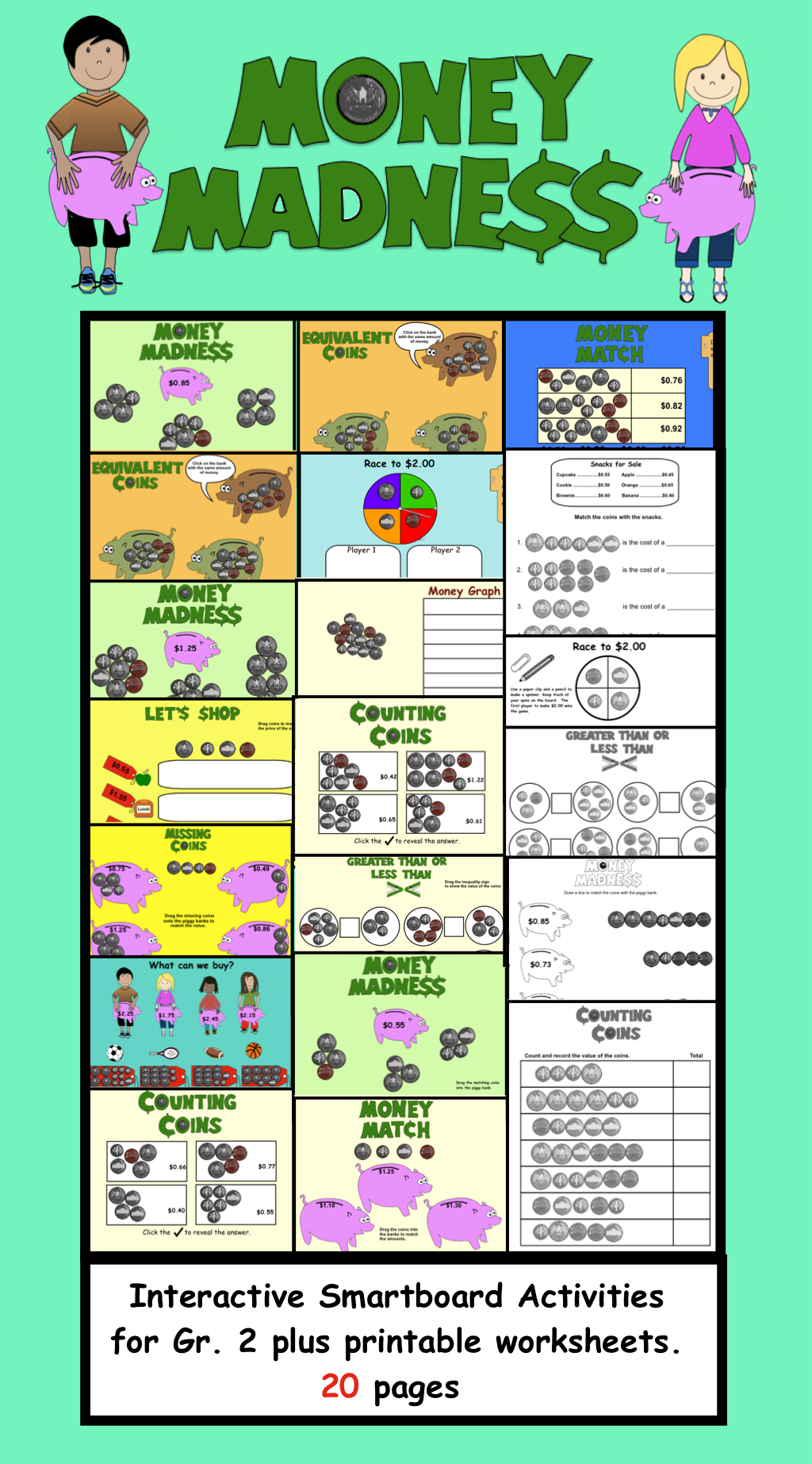 Money Madness Interactive Smartboard Activities And