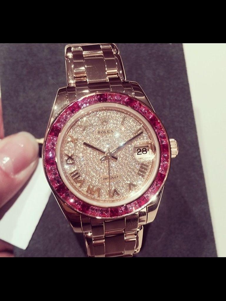 Rolex- Rose Diamonds , Gold and Yellow Diamonds