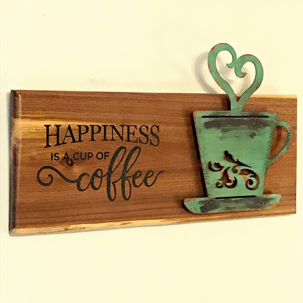 Coffee Shop Coffe Sign Rustic Home Decor Happiness Is Coffee Coffee Home Decor Coffee Wall Art Coffee Them Coffee Wall Art Coffee Shop Signs Coffee Signs