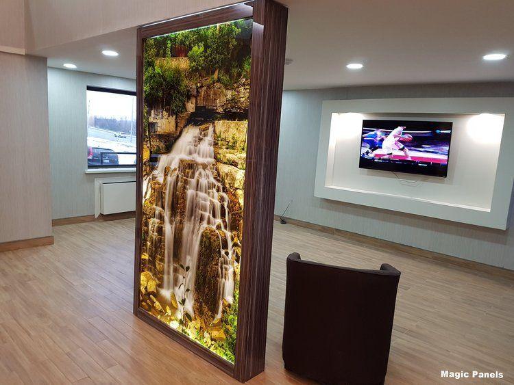 magic panels hotel wall decoration using plexiglas or acrylic panels