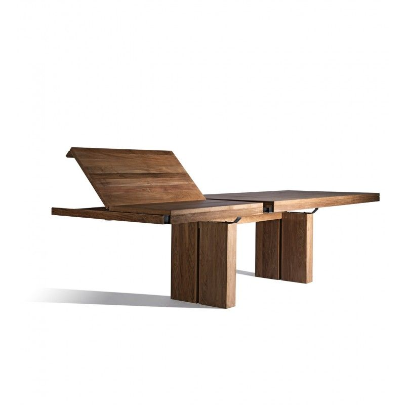 industry west teak double extendable dining table rcj table rh in pinterest com
