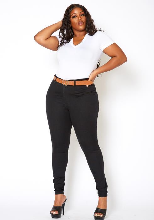 Asoph Plus Size Classic Black Denim Skinny Jean | Asoph ...