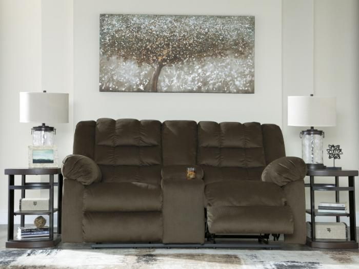 fy Umber Reclining Loveseat with Console Taft Furniture Showcase