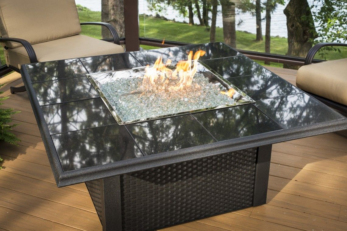Exterior Electric Fires Black Marble Fire Pits Square Electric Top ...