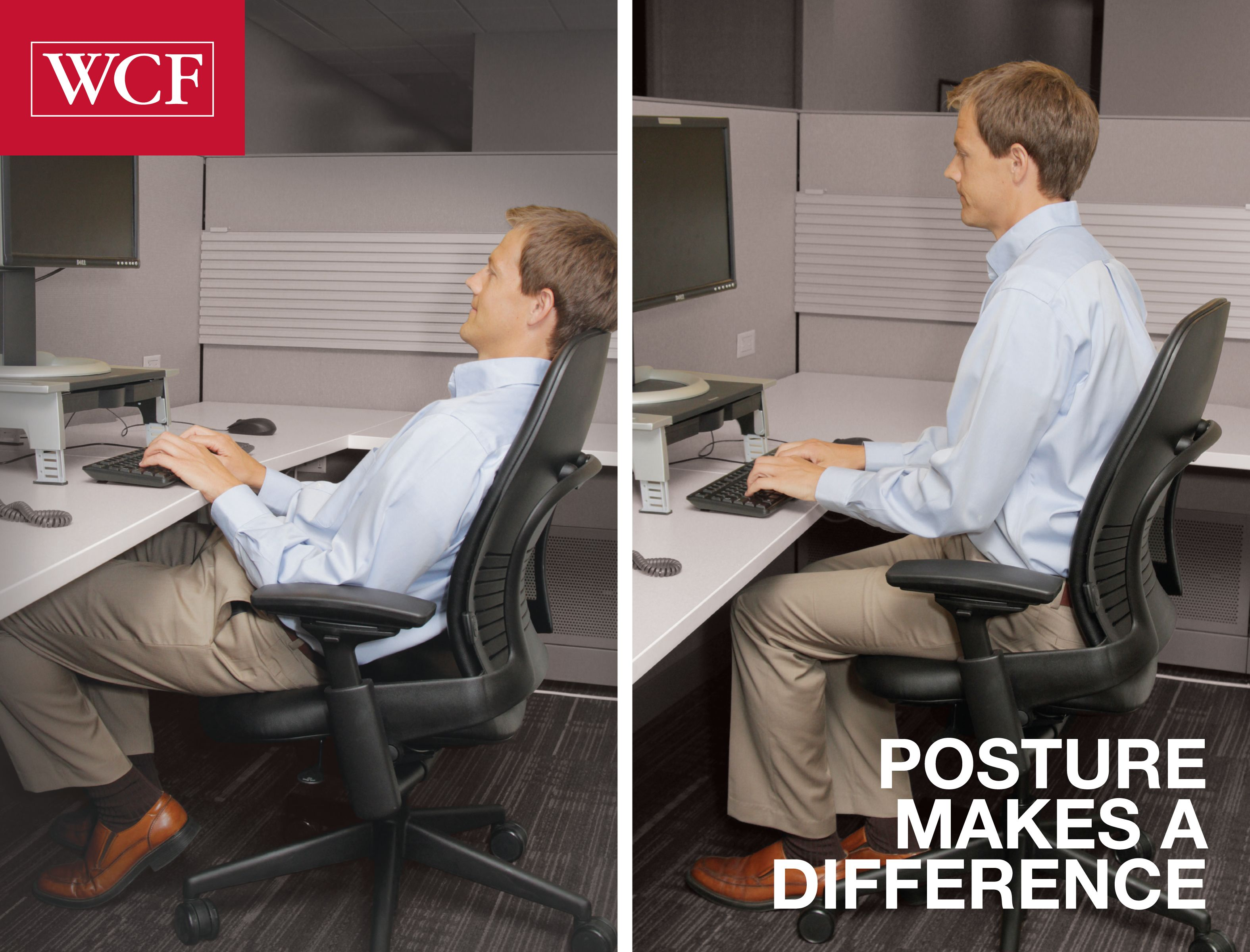 Office ergonomics posture makes a difference www