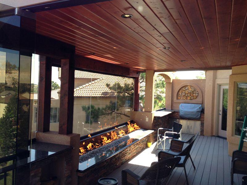Custom Deck Patio Cover Custom Fire Pit Built In Grill Colorado Springs Custom Deck Builders Outdoor Ki Outdoor Kitchen Design Built In Grill Outdoor Living