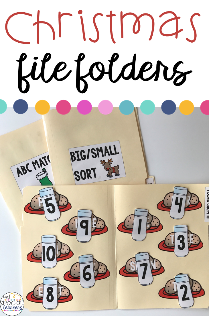 Happy Holidays File Folder Activities for Special Education | To ...