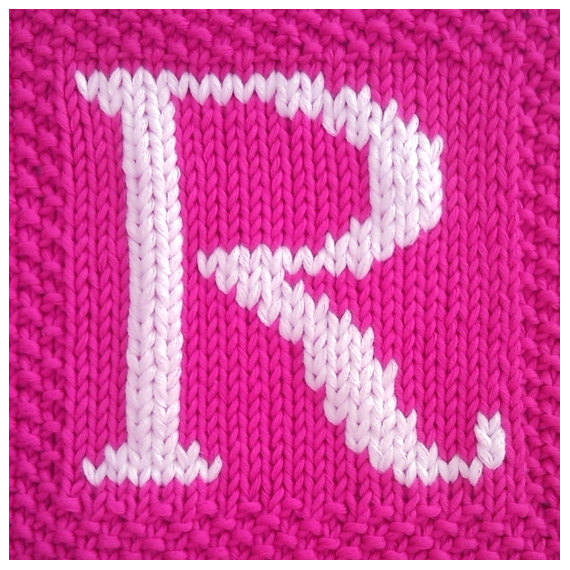 Knitted Dishcloth Pattern With Letters