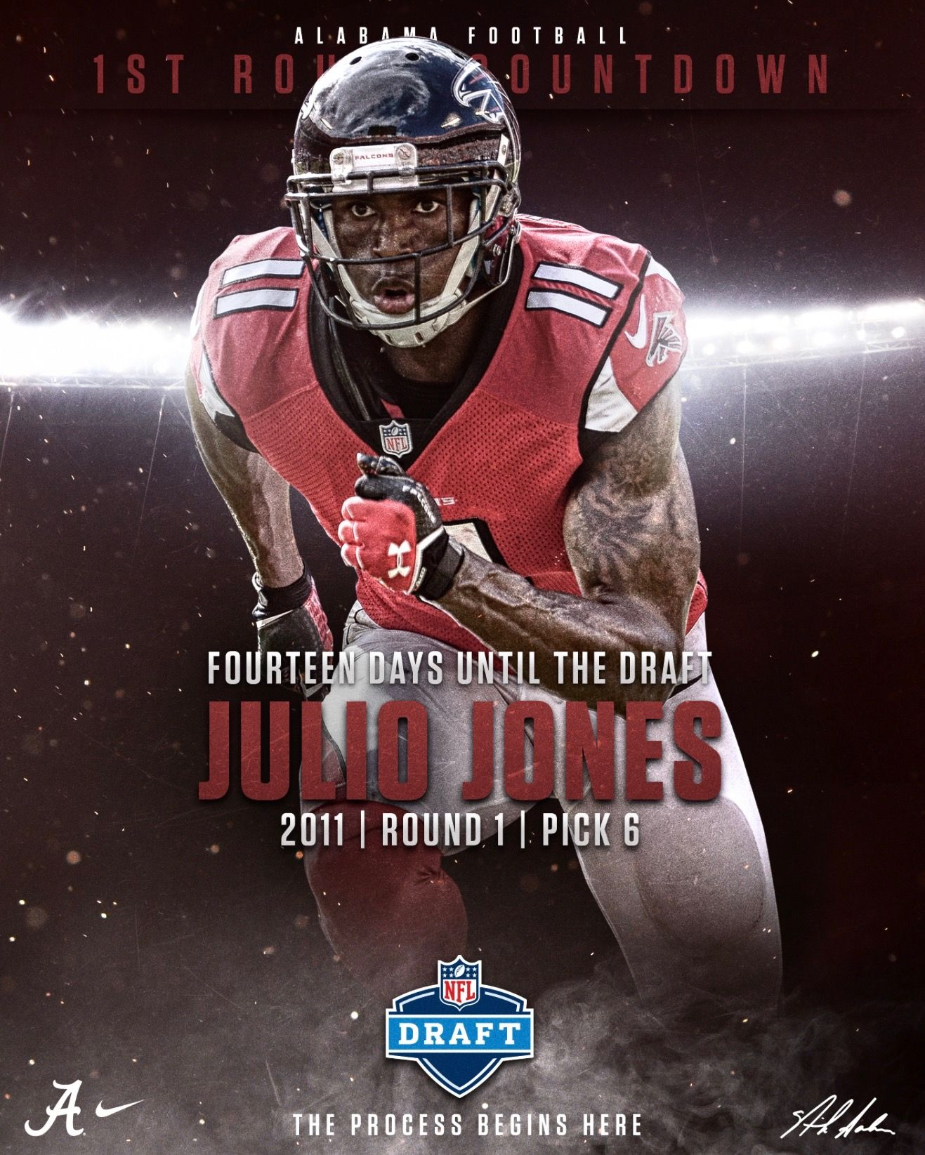 Julio Jones Nfl First Round Countdown On Behance Highlighting Alabama S 1st Round Nfl Heart Healthy Dinners Alabama Football Chocolate Truffles Recipe Easy