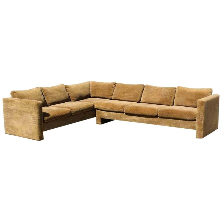 Excellent Mid Century Modern Danish Selig 2 Piece Sectional Products Short Links Chair Design For Home Short Linksinfo