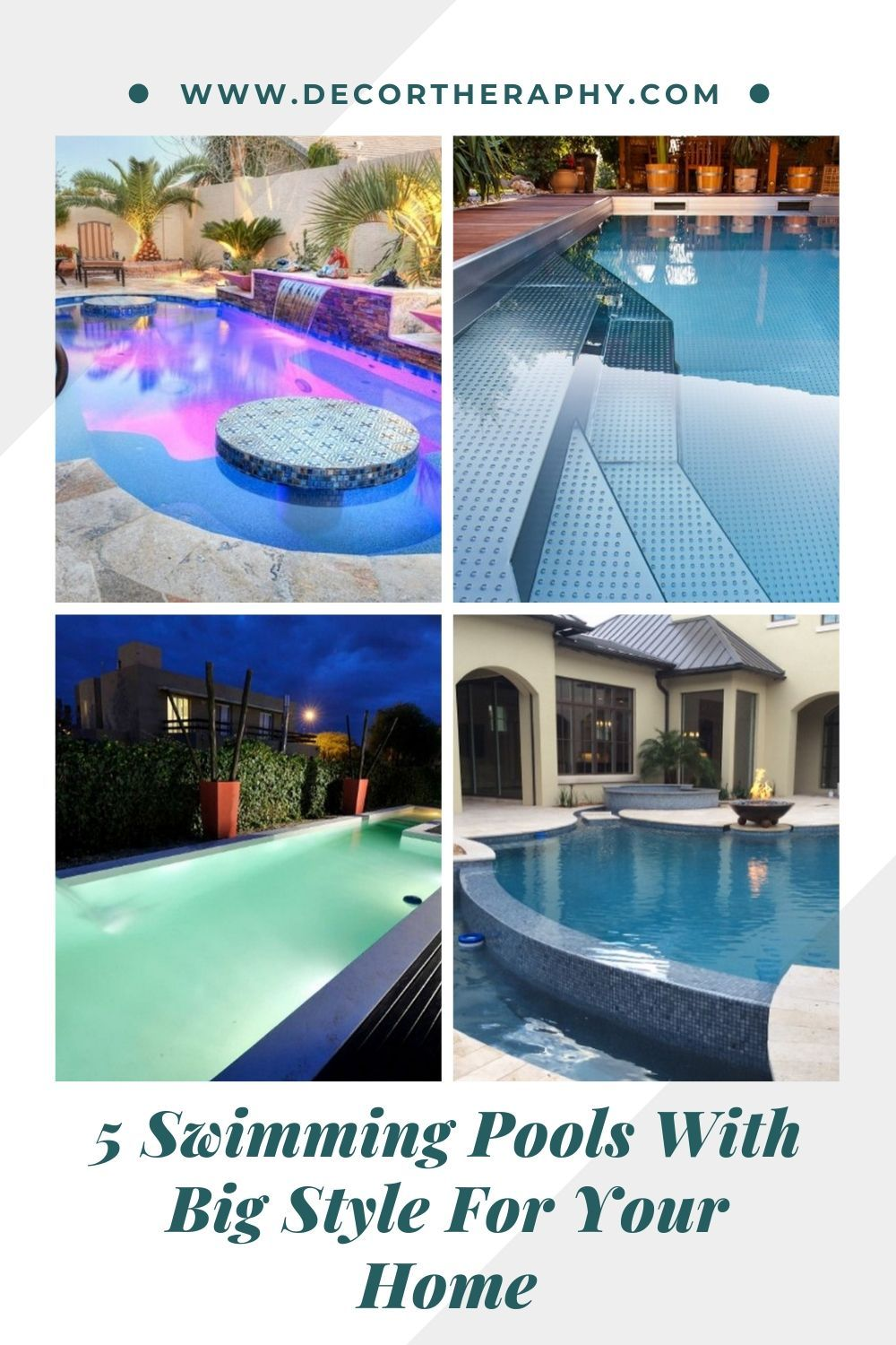 5 Swimming Pools With Big Style For Your Home Swimming Pools Pool Pool Installation