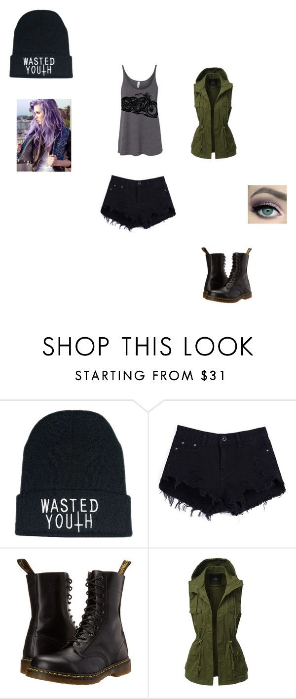 """""""This is my Zombie Killing outfit"""" by apocalyptic-nightmare ❤ liked on Polyvore featuring Dr. Martens and LE3NO"""