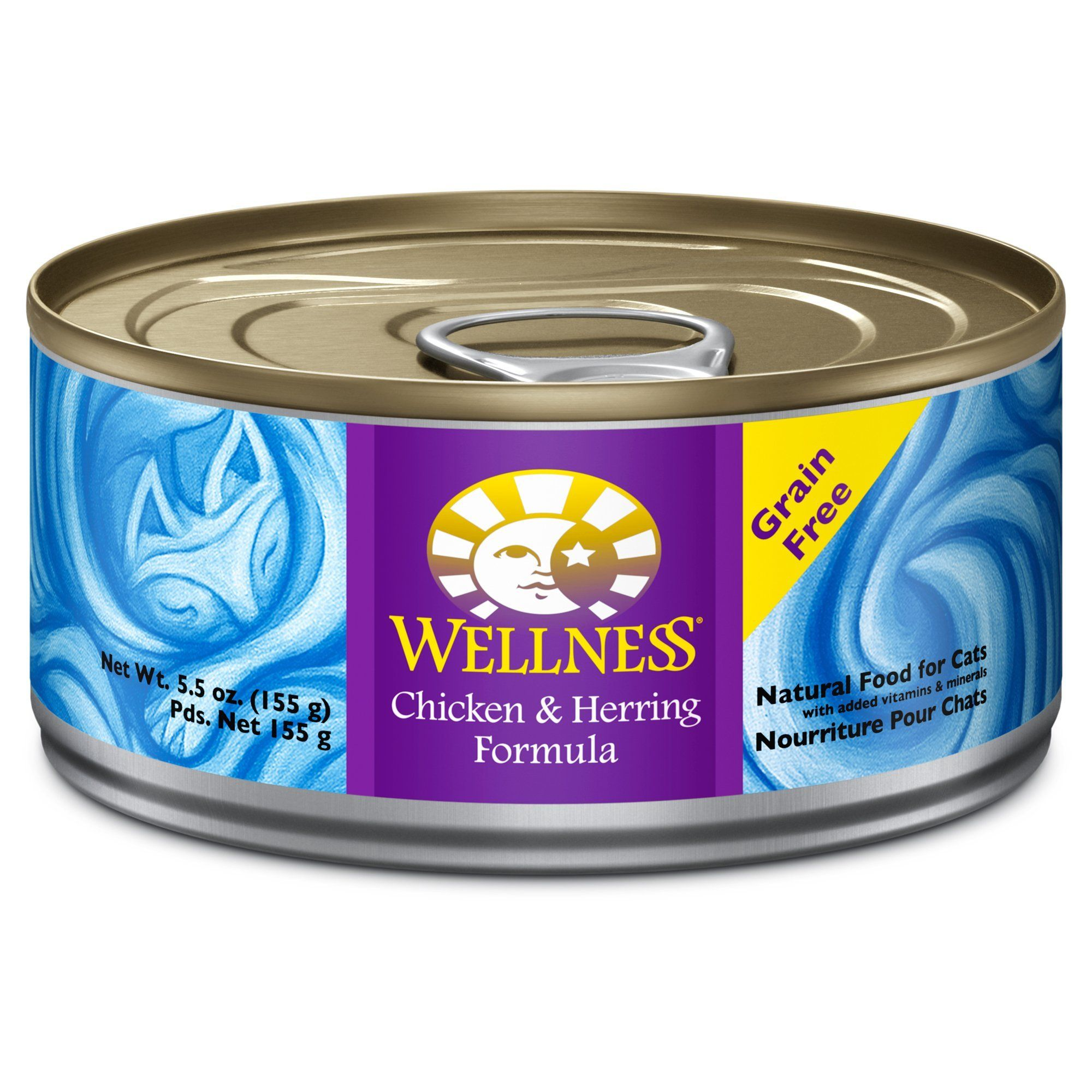 WELLNESS CHKN/HERR 5.5OZ 24 Count Case Canned cat food