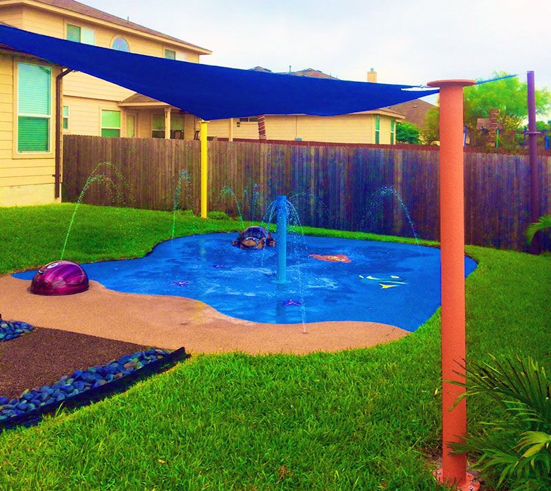 Top 32 Diy Fun Landscaping Ideas For Your Dream Backyard: Backyard Splash Pad