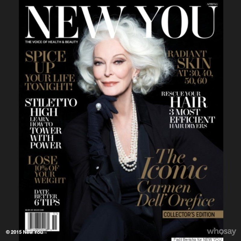 Spotted at the newsstand: the inspiring & glamorous Carmen Dell'Orefice! Beautiful pics+in depth interview with words of wisdom. A must-read, ladies.