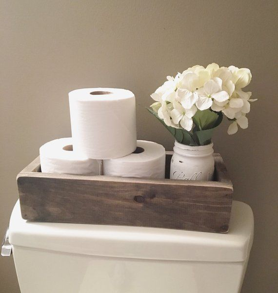 Photo of #paper # toilet paper holder # wooden box # storage # wcbox toilet paper holder / …