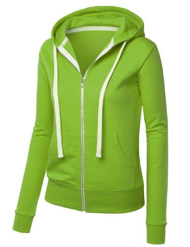 9359edb859fa MBJ Womens Premium Active Soft Zip Up Fleece Hoodie Sweater Jacket ...