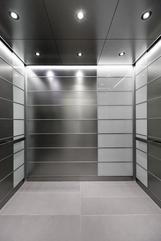 Levele 103 Elevator Interior With Main Panels In Stainless