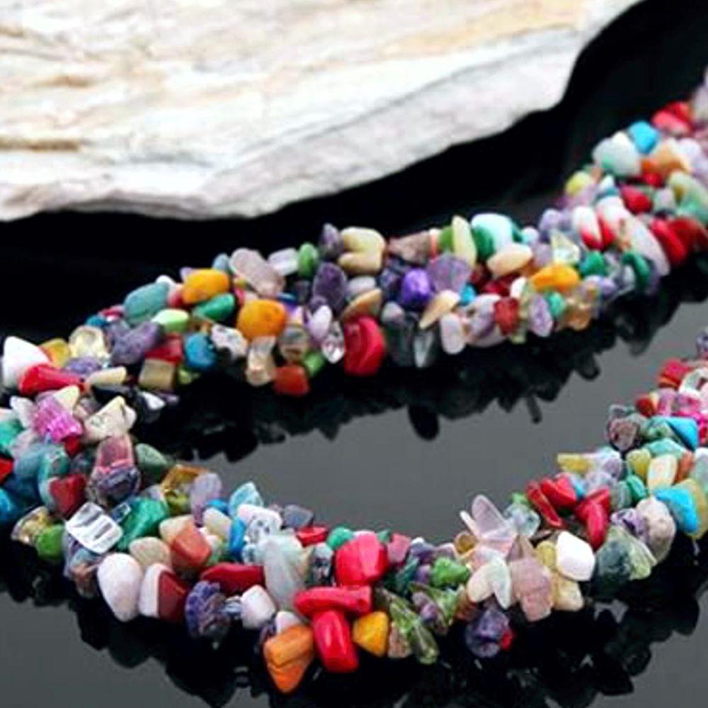 Colar De Pedras Semi Preciosas Moda Fashion Material Pedras Semi
