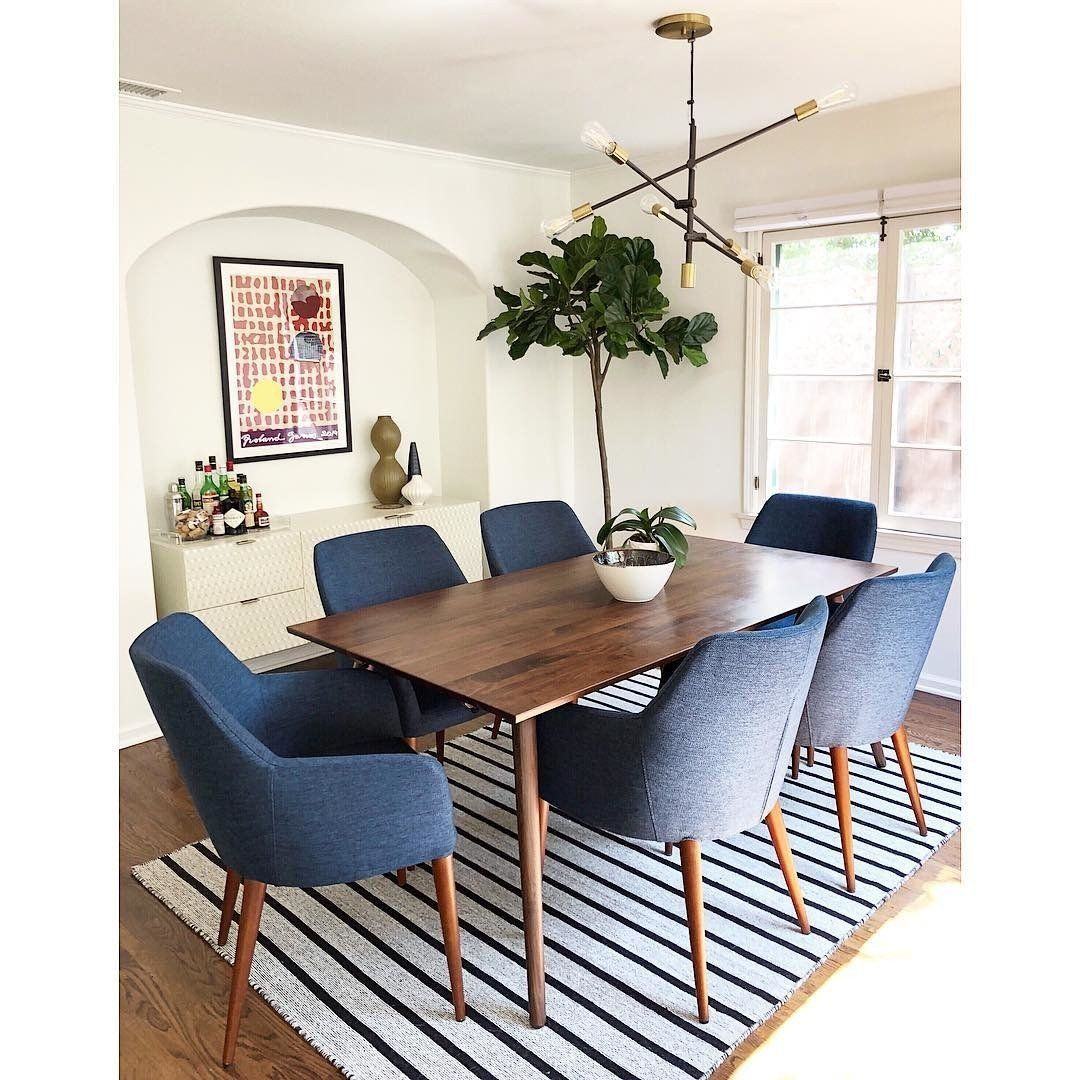 Feast Twilight Blue Dining Chair Mid Century Modern Dining Room